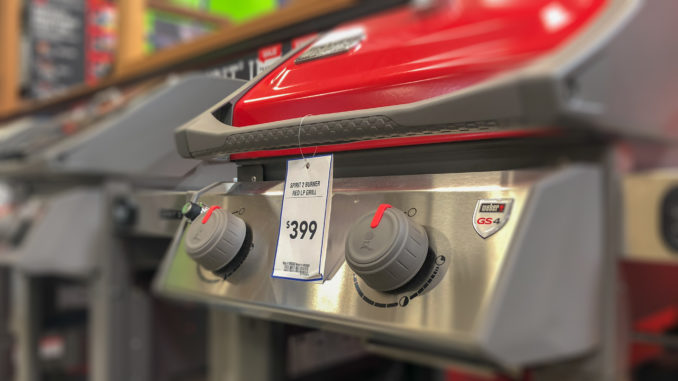 Smart grills and grilling accessories can keep your backyard party going down the right path. Weber offers the iGrill smart thermometer for many of its models, like this Spirit 2 grill. Image: Digitized House Media.