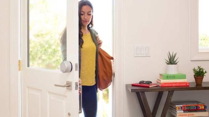 Smart door locks offer keyless entry and added safety for your home. Image: August Home.